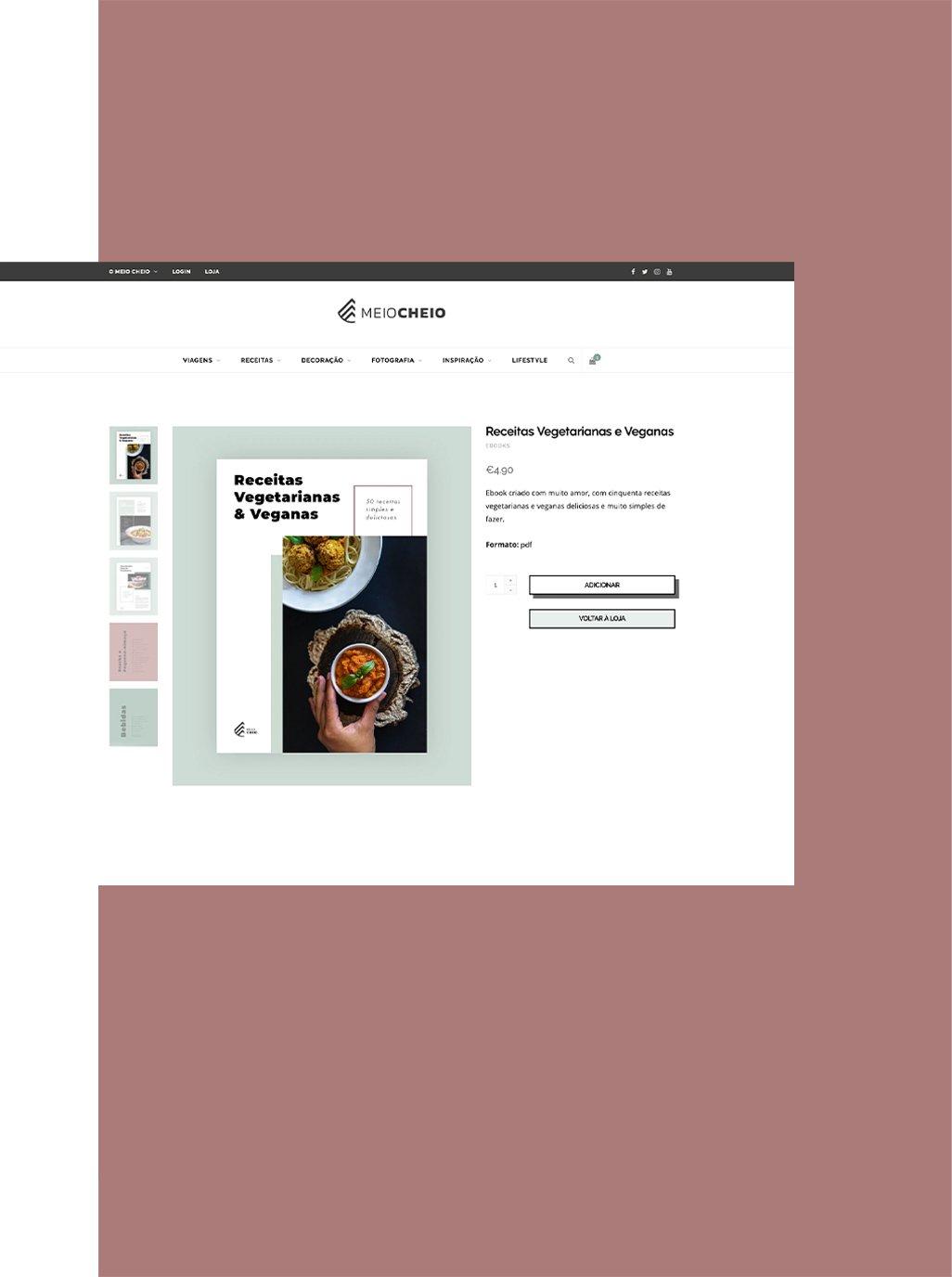 Product Page - Online Shop | Ecommerce | Meio Cheio