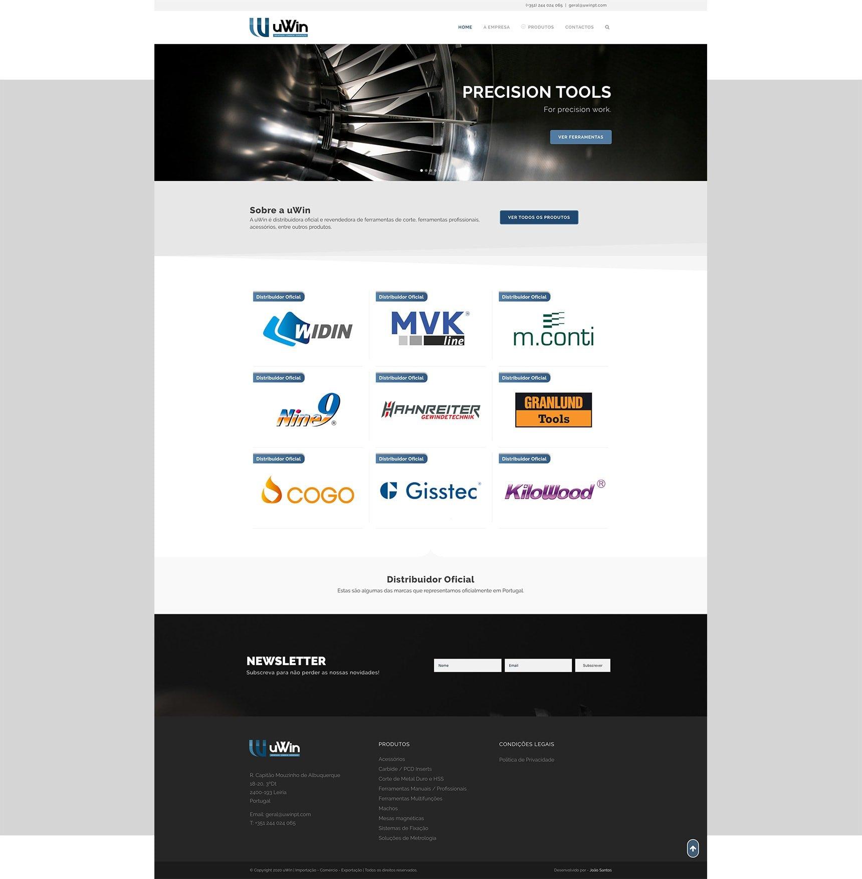 homepage - uwin - wordpress website